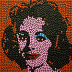 Bye Bye Liz, 2011, tecnica mista, 50 x 50 cm