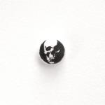 Aspirina - Skull, 2013, 25 x 25 cm, inchiostro su compressa di aspirina