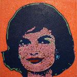Jackie, 2011, tecnica mista, 100 x 100 cm