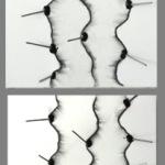 senza titolo 2014  2 pezzi  30x100 tecnica mista su tela