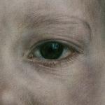 Eye (elemento dell'installazione IRIDE), 2011, acquerello - china e pastello su carta, 27 x 20 cm