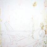 Mercurochrome, Metthylene, Betadine, lodine, 2013, 70 x 50 cm, disinfettanti e smalto su tela
