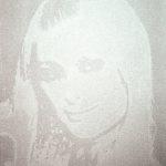 Heroes 3 (Paris Hilton), 2010, 40 x 50 cm, valium e acrilico su tela