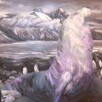 Diorama 5, 2010, olio su tela, cm 80x141