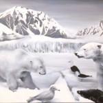 Diorama 4, 2010, olio su tela, cm 80x141