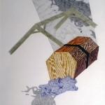 Les jardins suspendus, dessin sur papier, A4, 2013
